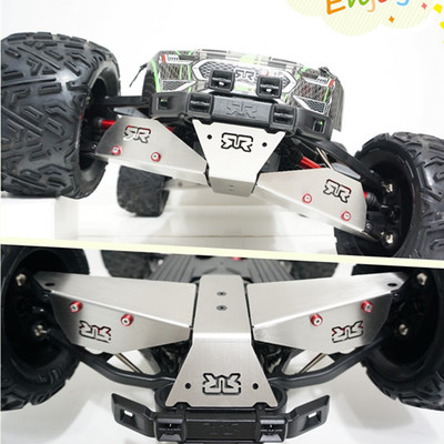 stainless steel chassis shield skid plate kit armor suspension arm protection for 1/8 monster truck ARRMA Nero BigRock FAZON