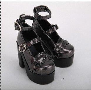 1/3 1/4 BJD высокие каблуки обуви искусственная кожа кукла обувь 4 цвета