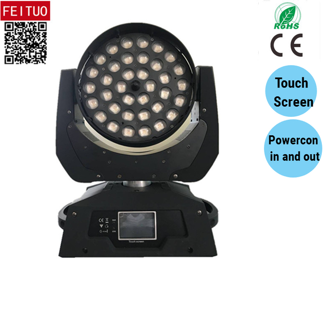 Hot Lyre Zoom Wash 36 x18w Moving Head Led Light RGBWA UV 6in1 DMX Pro Light Lumiere DJ Stage Wedding Disco Lighting Equipment