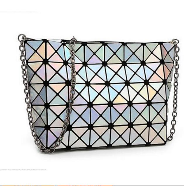 2017 NEW Bao Bao bag Women Diamond Tote Geometry Quilted Shoulder Bags Laser Plain Folding Handbags bolso baobao Messenger Bag