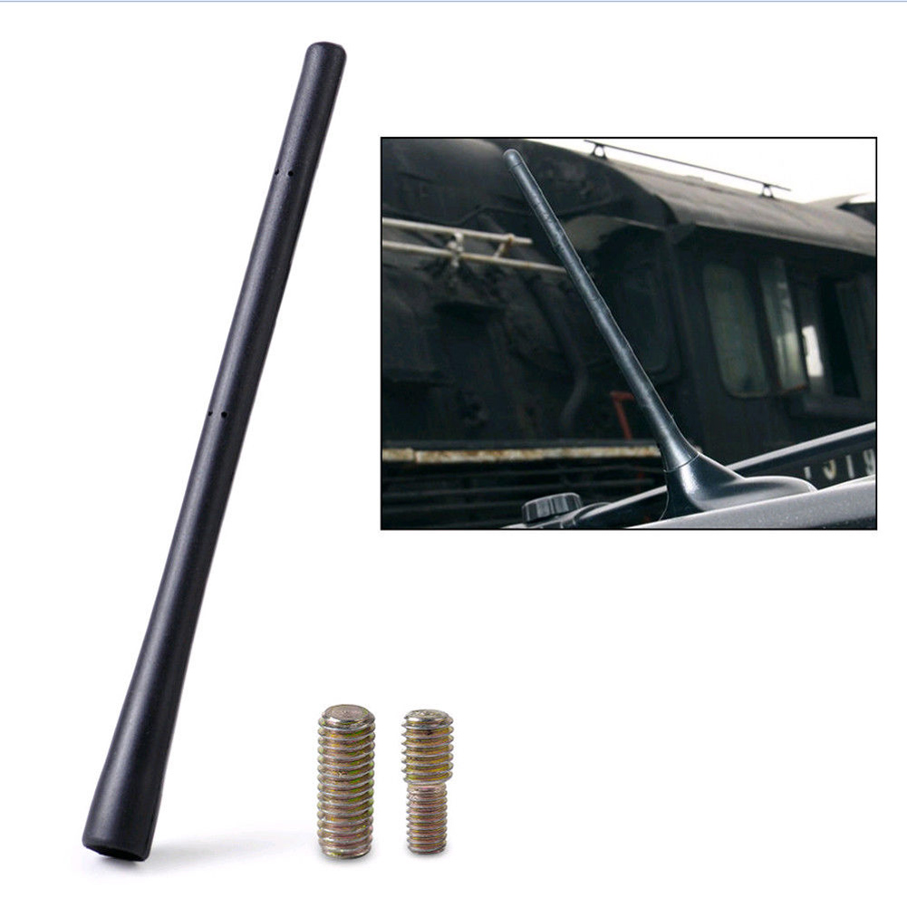 1pcs Car Auto Black Antenna AM//FM Radio Aerial Mast Stubby 2 Screws Accessories