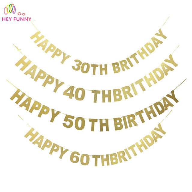 hey lustige 1 satz happy 30 40 50 60 geburtstag dekoration party wimpel sommer strand liefert. Black Bedroom Furniture Sets. Home Design Ideas
