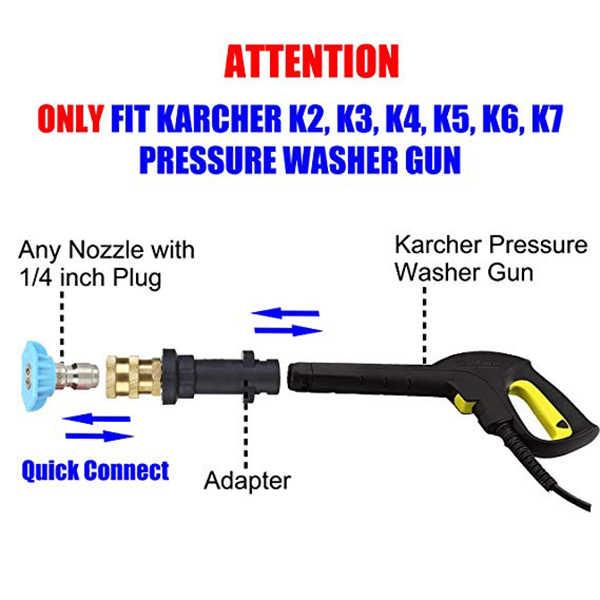 Pistolet de nettoyage de Pot de mousse de nettoyage à haute pression-adaptateur rapide de 1/4 pouces pour Karcher K K2 K3 K4 K5 K6 K7