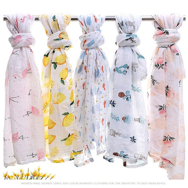Baby Bamboo Blanket Pattern: Baby Blanket Muslin Swaddle Wraps Cotton Bamboo Baby
