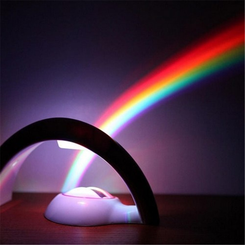 LED Lucky Colorful Rainbow Projector Night Light Lamp Party Christmas Magic
