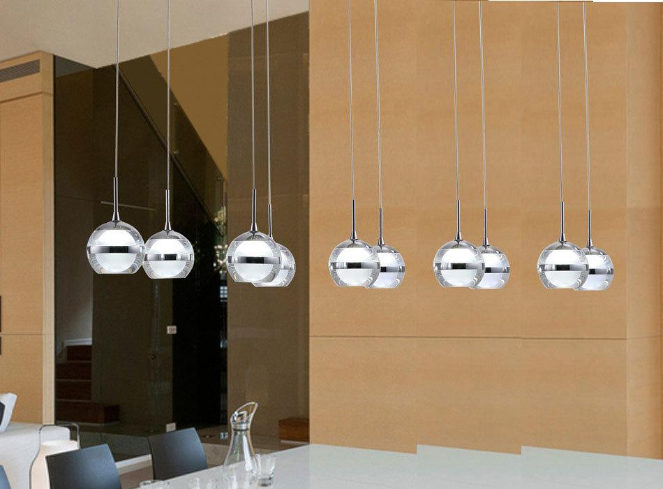 Modern Led Chandelier Lights Acrylic Lampshade 10 Led