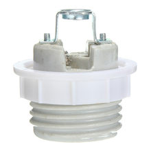 Smuxi E27 Lamp Base Screw Socket Ceramic Heat Lamp Fitting Light Bulb Lamp Holder Adapter Converter Cap Lamp Base(China)