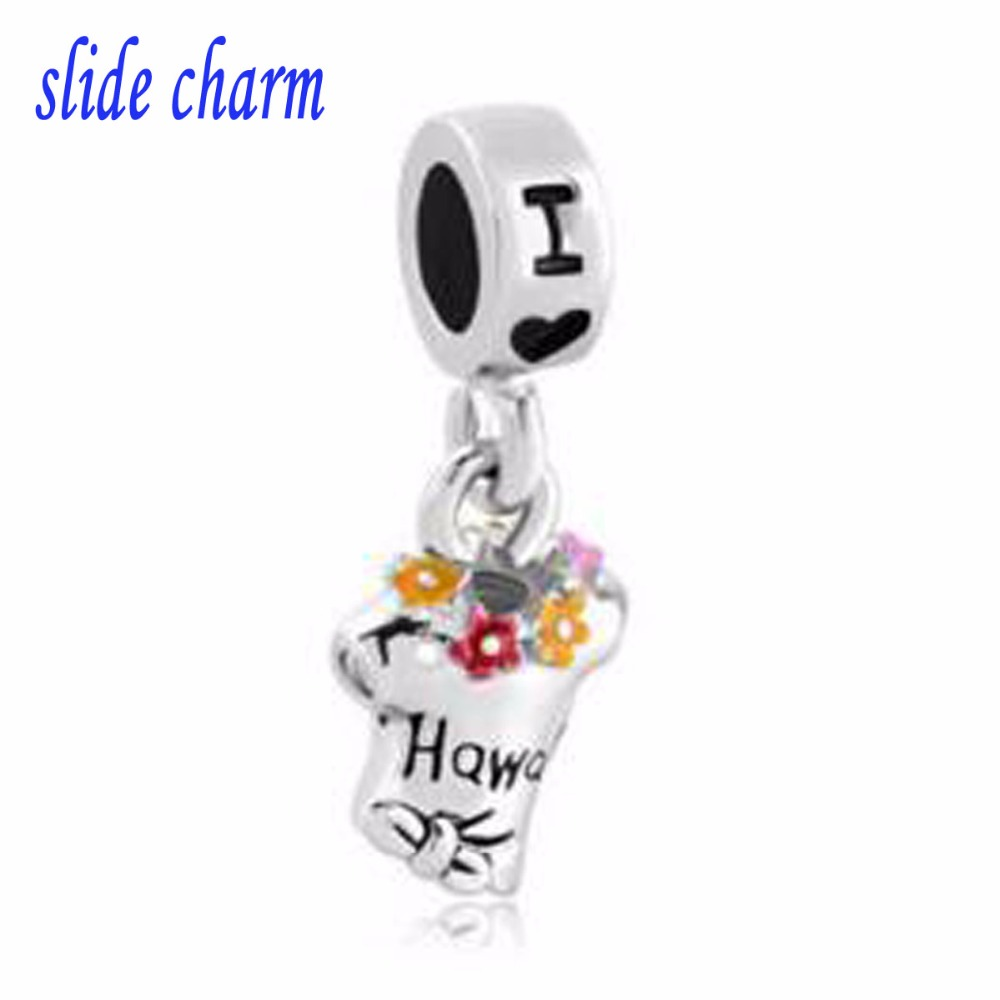 Free Shipping Fit Pandora Charm Bracelets Dangle Charm Bracelet Spacer Multicolor Summer Tshirt I Love Hawaii Beads For Jewelry Beads Free Shipping Beads Multicolormulticolor Beads Aliexpress