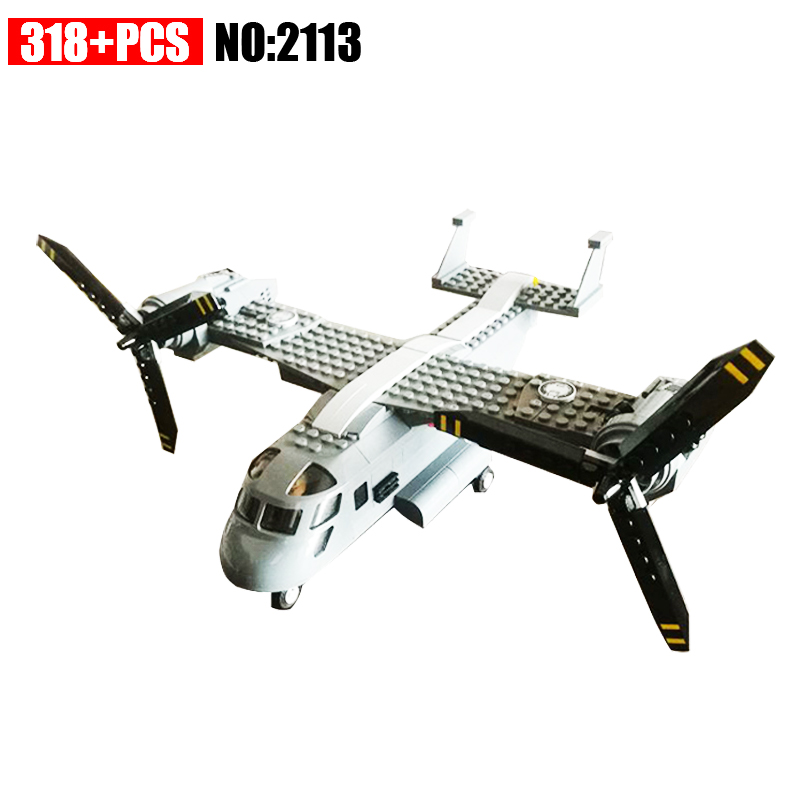 2113 318Pcs Military series Osprey helicopter Model Building Blocks DIY Educational Bricks Toys For Children Gift hot sale 1000g dynamic amazing diy educational toys no mess indoor magic play sand children toys mars space sand