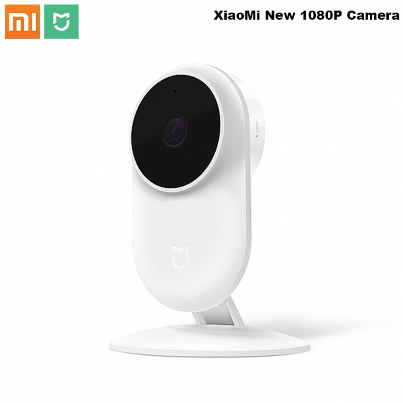 Original Xiao mi jia 1080 p Smart ip Webcam 130 grados 2,4g Wi-Fi 10 m infrarrojos vision + NAS mi c altavoz casa Cam