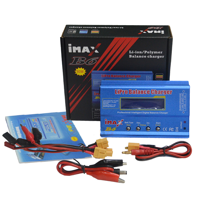 IMAX B6 80W Lipo Charger NiMh Li-ion RC Battery Balance Digital Charger Discharger With XT60 12V 5A Adapter