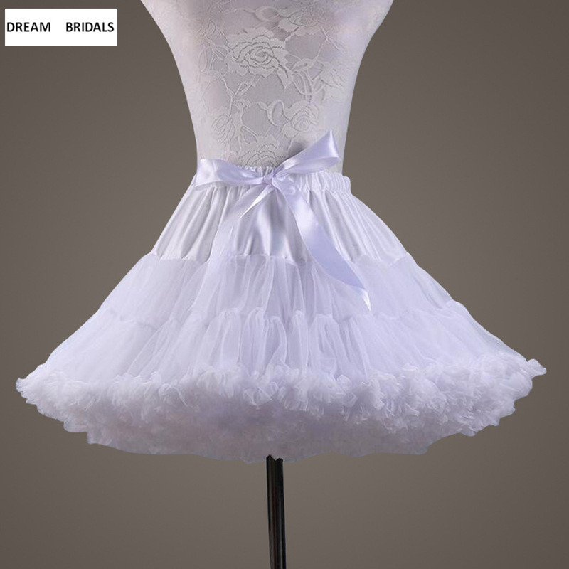 Stretch Tulle Petticoat Cheap Short Underskirt Hot Sale Wedding Accessories In Stock Petticoats Dress Girl 2018
