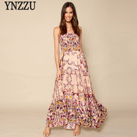 Floral print Women Summer Maxi Dress 2017 New Ruffles Strapless Long Beach Dress Boho Sundress Female Dresses Vestidos AD174