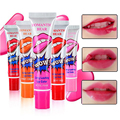 6 Colors Cute Magic Lip Gloss Waterproof Long Lasting Peel Off Mask Tattoo Lipstick Makeup Set Beauty for Girl  Free shipping
