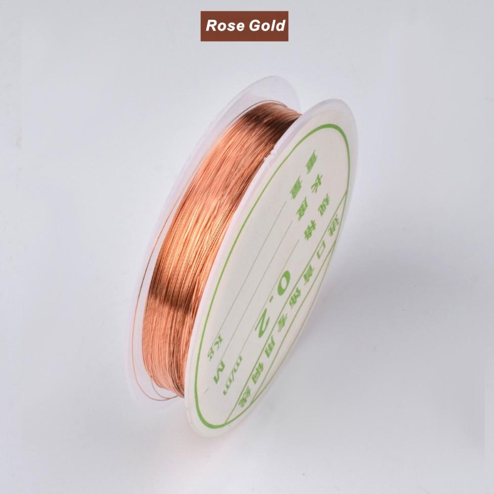 1 рулон 22 м Золотая серебряная розовая медная проволочная лента