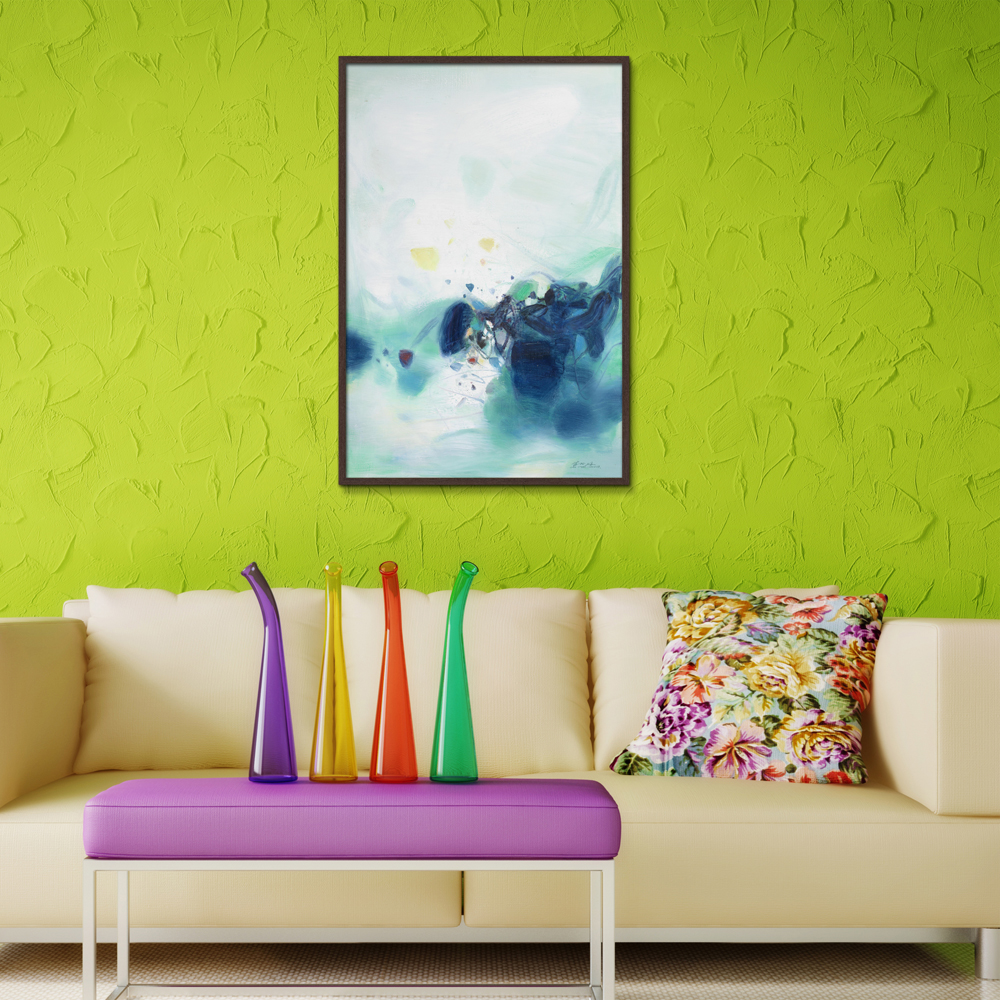 Graffiti Landscape Abstract Frameless Oil Painting Spray Canvas Unframed not handmade straw picture Hot Selling Decoration