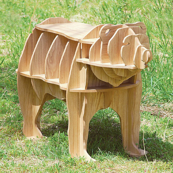 High End 42 Bear Antique Wood Coffee Table Self Build Puzzle Furniture