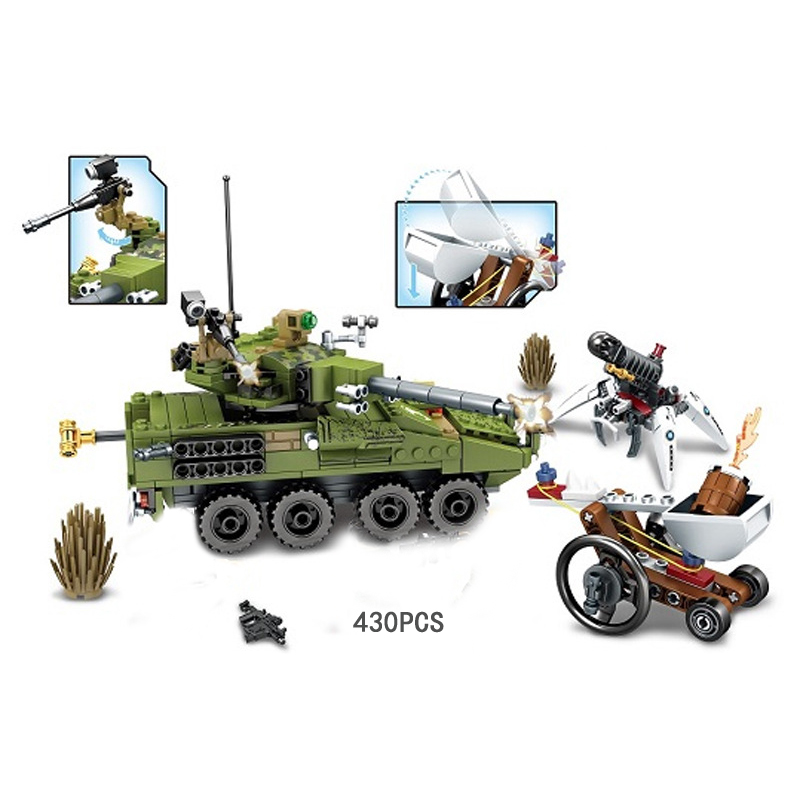Hot modern military black gold Tight encirclement building block army figures tank Catapult bricks toys for boys gifts hot modern military t92 tank moc building block model bricks toys collection for adult children gifts