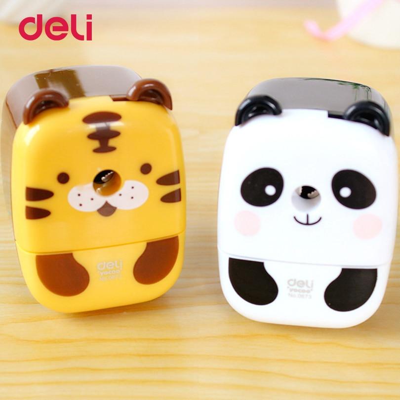 все цены на Deli Lovely 2017 Stationery panda Pencil sharpener Kawaii Panda Pencil Sharpener gift for kids school supplies pencils sharpener онлайн