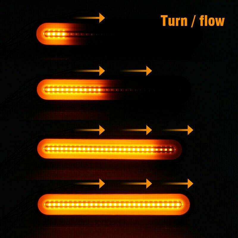 2Pcs Super Bright Trailer Stop Tail Lights 12 24V Neon Lamp LED RV Trailer Stop Flowing Turn Signal Brake Rear Tail Light