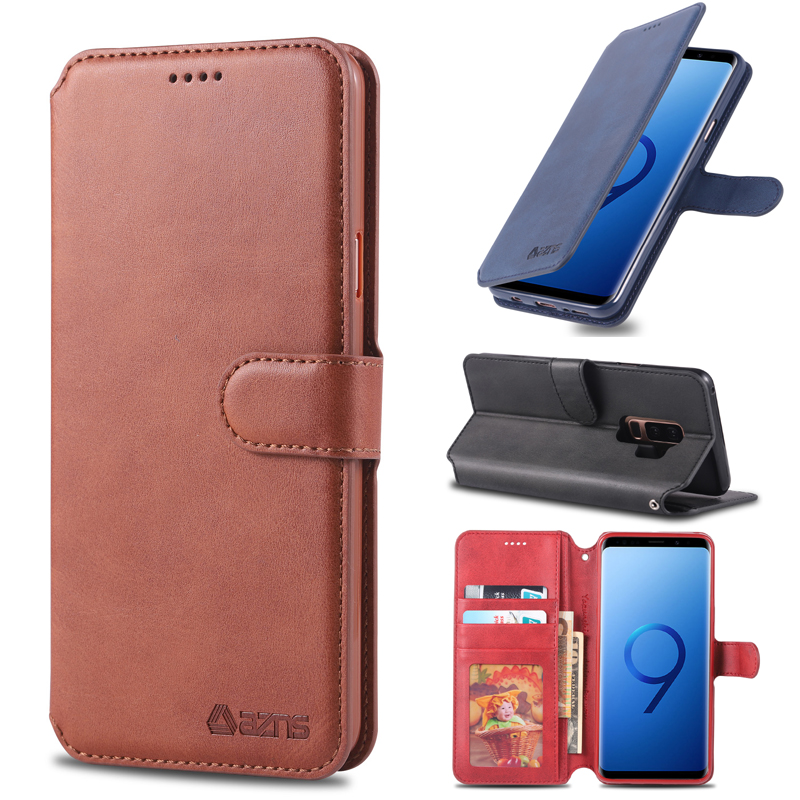 Business Luxury Protection Case For Samsung Galaxy <font><b>S9</b></font> <font><b>G9600</b></font> Leather Flip Cases Cover Wallet Bag <font><b>S9</b></font> Plus G9650 Phone Case Cover image