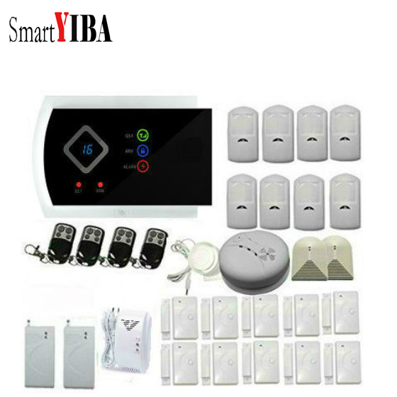 SmartYIBA Russian Spanish French Voice Wireless Wired GSM SMS Home Security font b Alarm b font