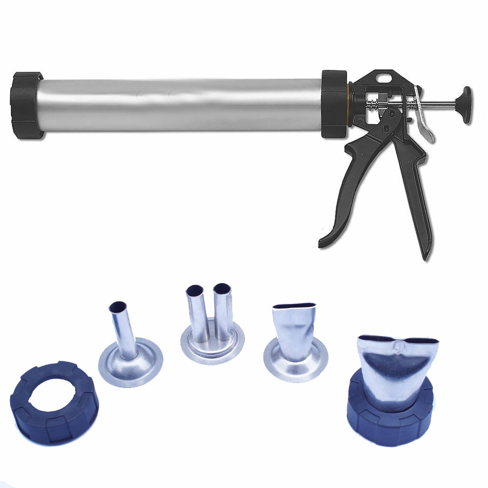 Free Shipping Jerky Gun Aluminum Tube Holds 1.5lbs of Ground Meat Jerky Gun Beef Jerky Cannon with 4pcs Stainless Steel Nozzles image