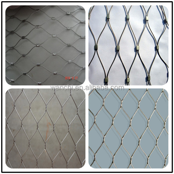 stainless steel rope mesh/outdoor decorative rope wire mesh on ...