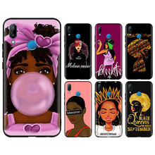 2bunz Melanin Poppin Aba Phone Cases for Huawei P10 P20 Lite Mate 10 20 Lite 20 Pro Honor 8X 9 Lite Soft Silicone Black Cases(China)