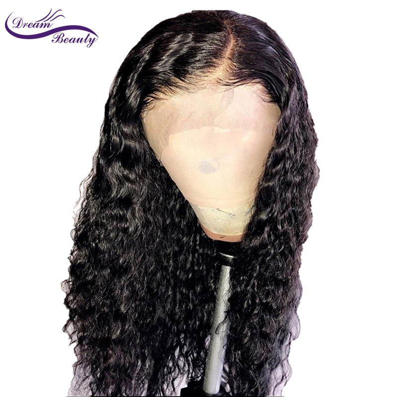 Dream Beauty remy Brazilian Curly Lace Front Wig 13x6 Lace Front Human Hair Wigs 13x6inch long Deep Part Lace Wig