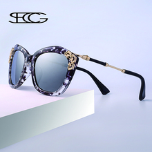SECG New Brand Designer Women Sunglasses Spy Fashion Cat Eye Coating Mirror Sun glasses Women Polarized Female Sun Eyewear 222