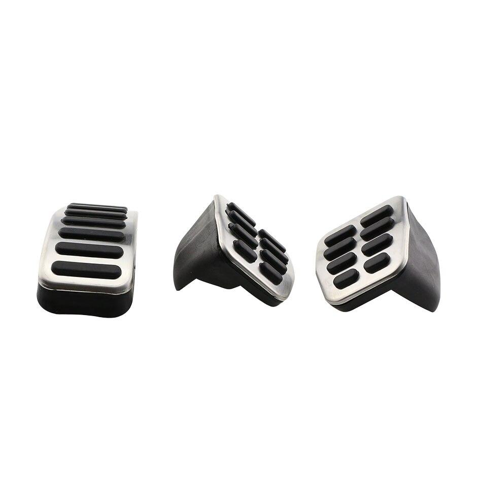 1 jeu de pédales de frein à gaz de voiture en acier inoxydable pour Skoda Fabia I II 1999-2015 Octavia 1U 1996-2010 (Nicht 1Z Modelle) pièces de Roomste