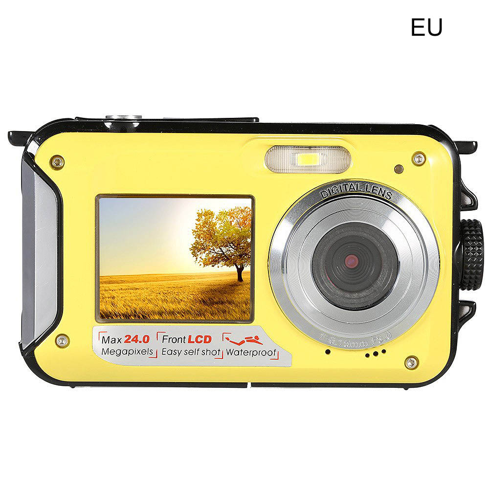 Digital Camera Waterproof 24MP MAX 1080P Double Screen 16X Digital Zoom Camcorder HD Underwater Camera 2