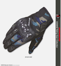 GK-197 3D Mesh Carbon Protective Gloves Black Red Cycling Dirt Bike MX MTB Touring Spring Summer Touch Panel motocicleta