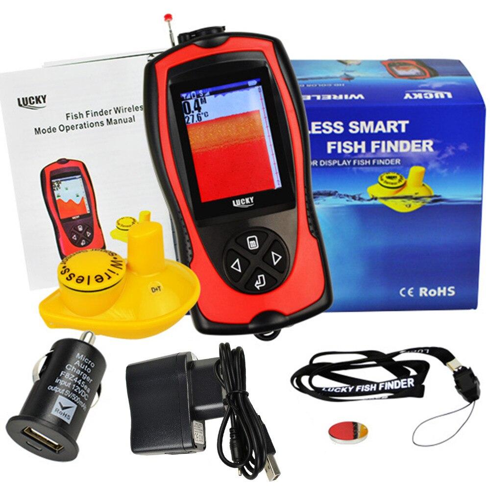FF1108 1CW 2~147ft Depth Range LUCKY Wireless Sensor FishFinder ...