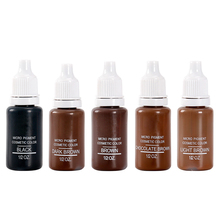 5pcs brown Microblading Permanent Makeup Pigment Professional Tattoo Ink Natural Plants Permanent Eyebrow Eyeliner Lips Pigment
