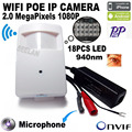 1080P poe Night Vision 18pcs 940nm Invisible Led Onvif P2P Mini IR Wireless Ip Camera Surveillance Camera Wifi POE CAM