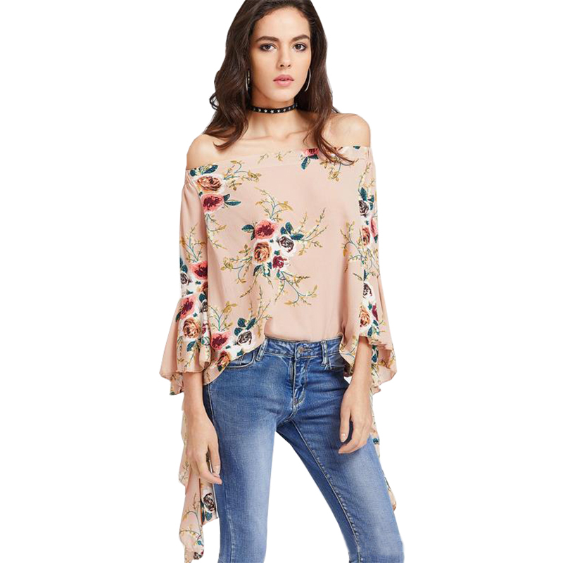 Analytical 2019 New Blouse For Women Chiffon Printing Aliexpress New Digital Print Blouses Sleeve Chiffon Shirt Vestidos Blk3033 Strengthening Sinews And Bones Blouses & Shirts