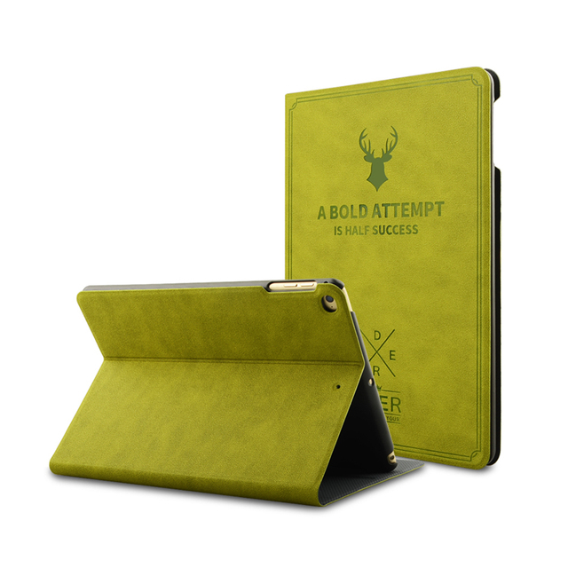 Luxury Flip Leather Smart Wake Up Case For iPad Pro 9.7 Air 1 2 Ultra Slim Deer Skin Stand Holder Cover For iPad Pro 9.7 Air 1 2