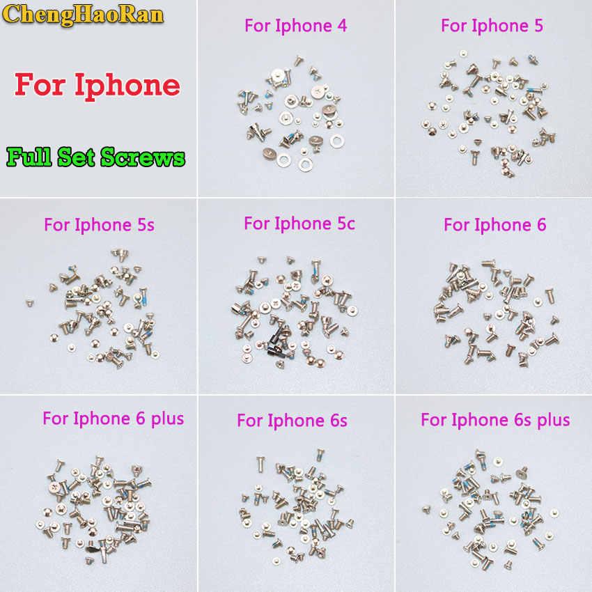ChengHaoRan 1Set Vollen satz schrauben für iPhone 4 5 5S 5C 6g 6 Plus 6S 6S Plus Reparatur Schrauben Mobile Zubehör