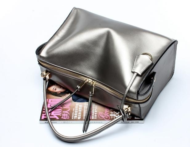 SUNNY SHOP Luxury Genuine Leather Women Handbags Office Fashion Brand Design Real Leather Shoulder Bag Vintage HIgh Quality Bag