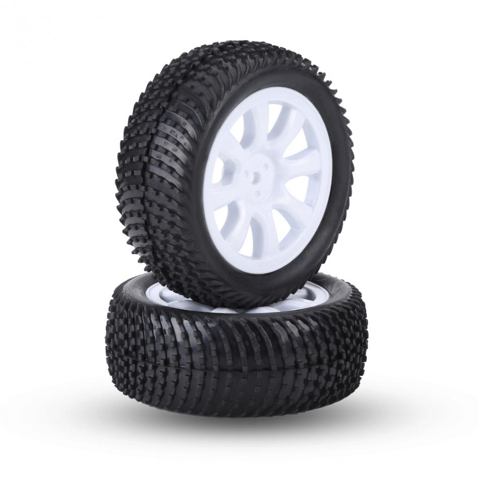 4Pcs/Set Rubber Tyre Tires with Plastic Hubs Wheel for1:10