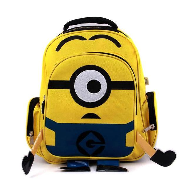 Children Cartoon Minion Backpack School Bags For Kids Yellow ...