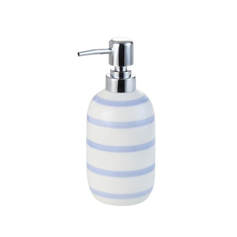 europe ceramic toothbrush holder dispenser soap dish bottle blue white striped creative couple bathroom accessories sets in bathroom accessories sets from