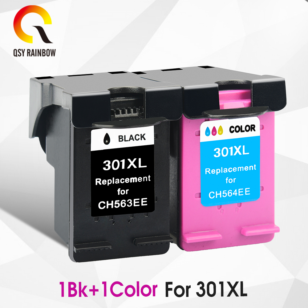 CMYK SUPPLIES Refilled ink cartridge replacement for HP 301 301XL XL CH563EE for HP DeskJet 1050 2050 3050 2150 3150 1010 1510