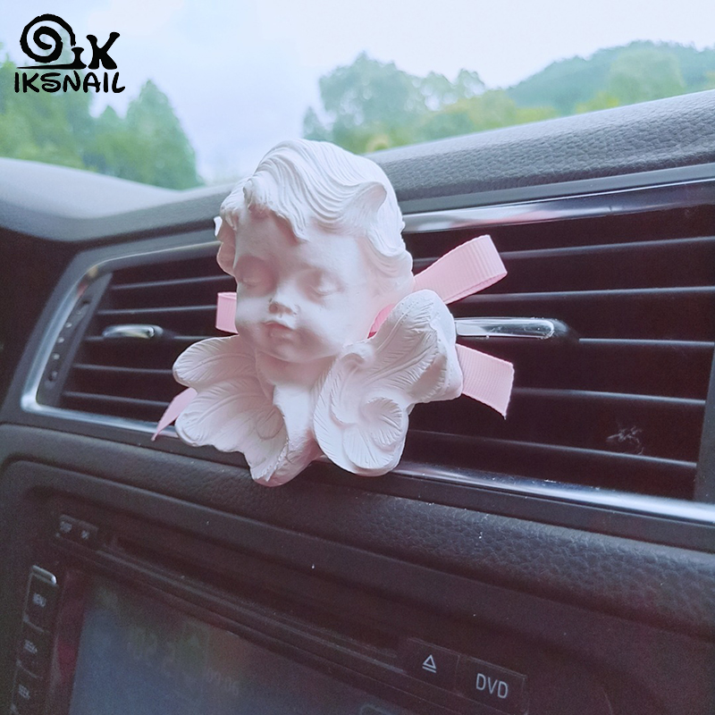 IKSNAIL INS Car Air Freshener Fragrance Nordic Wind Sleeping Angel Air Vent Perfume Clip Expanded Fragrant Stone Car Decoration image