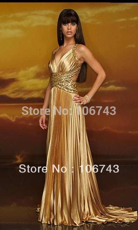 free shipping party 2018 new hot Sexy brides Custom vestidos formales long gold beading prom party gown   bridesmaid     dresses