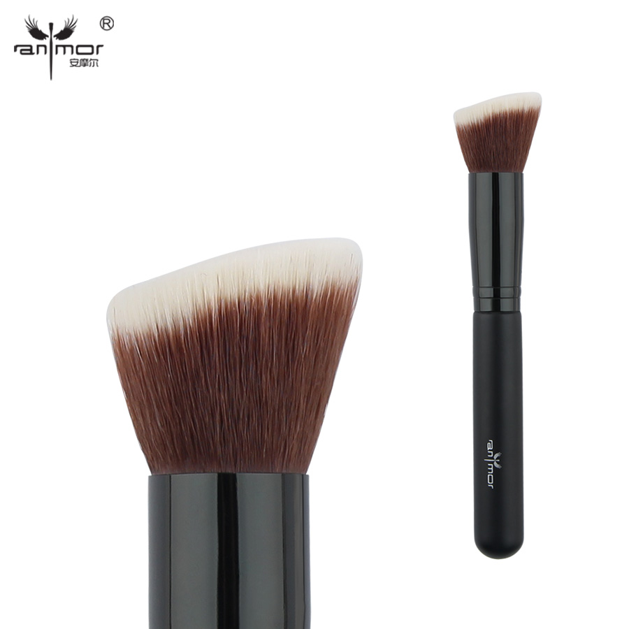 Anmor Blush Brush Synthetic Hair Makeup Brushes For Blusher or Powder PL01S artdeco blusher 18 цвет 18 beige rose blush