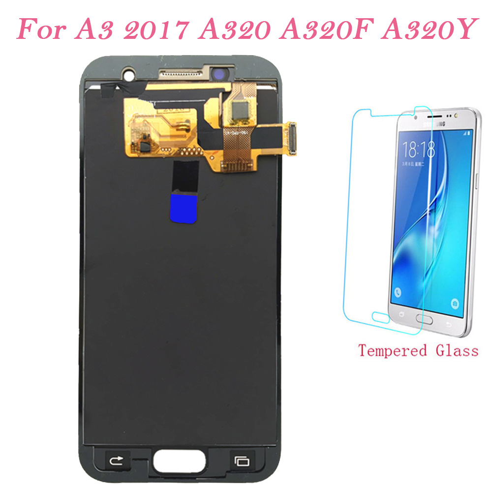 Test <font><b>LCD</b></font> Screen For <font><b>Samsung</b></font> Galaxy A3 2017 A320F Touch Screen Digitizer <font><b>LCD</b></font> Display Adjust For <font><b>Samsung</b></font> <font><b>A320</b></font> A320Y Assembly <font><b>LCD</b></font> image