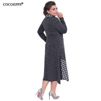 COCOEPPS Plus Sizes Autumn Women Dresses 2019 Winter Large Size Loose Dress Female Long Big Size Dress Women Clothings 5XL 6XL 4